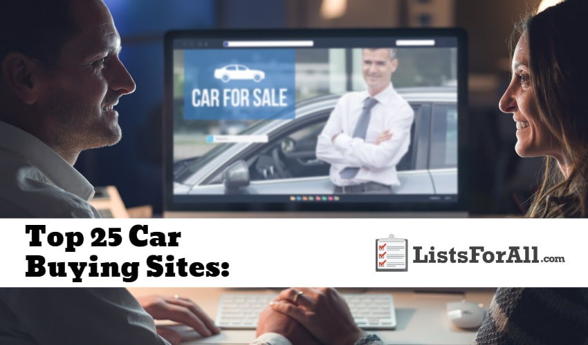 Car Buying Sites >> Best Car Buying Sites The Top 25 List Listsforall Com