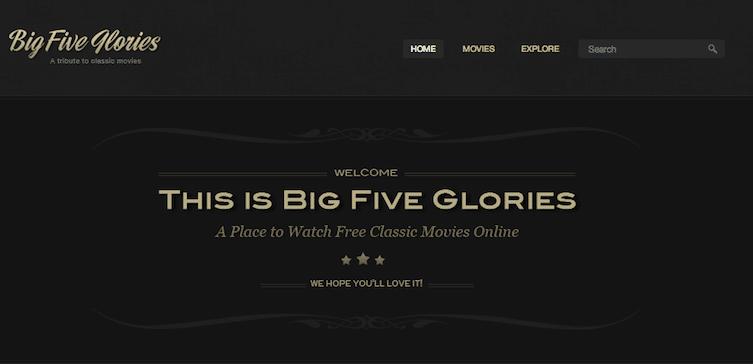 Big Five Glories classic movies
