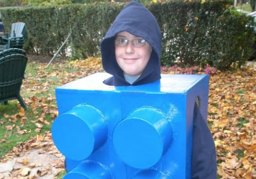 Homemade blue brick kid's Lego outfit
