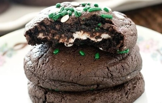 Peppermint Patty-Stuffed Chocolate Cookie Recipe