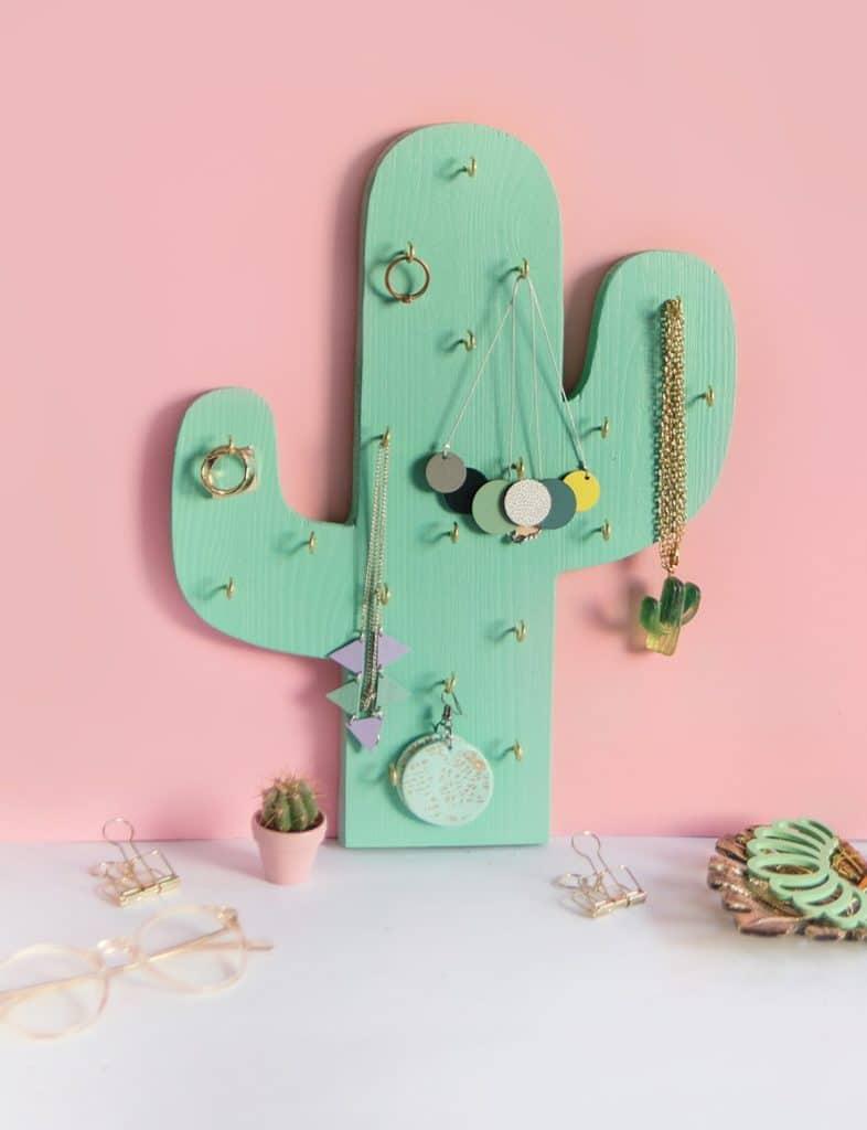 Cactus Jewelry Holder Craft