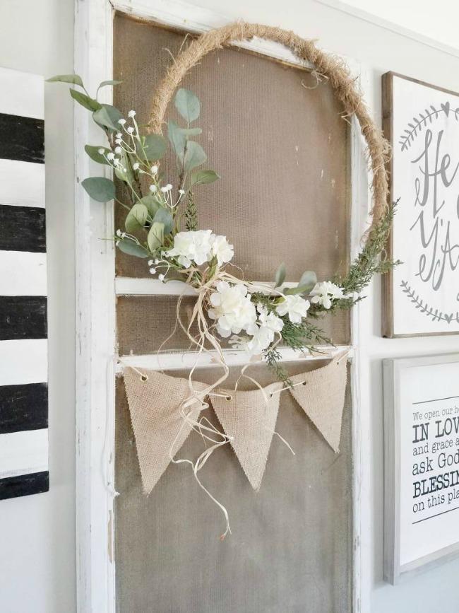 Hula Hoops Wreath Crafts