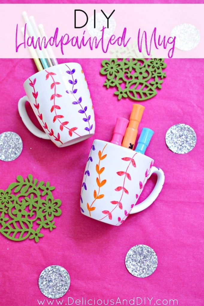 Painted Floral Mugs Craft