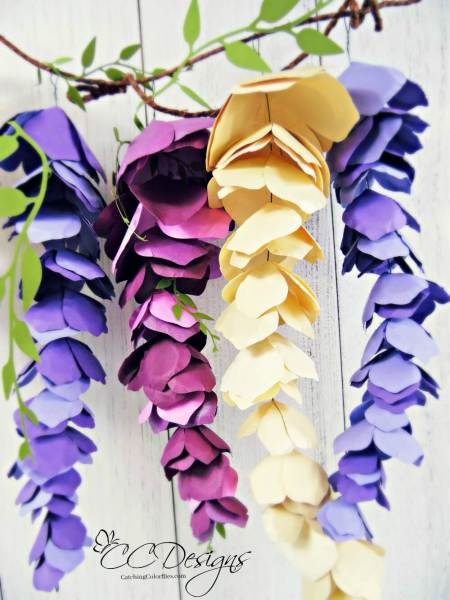 Paper Hanging Wisteria Craft