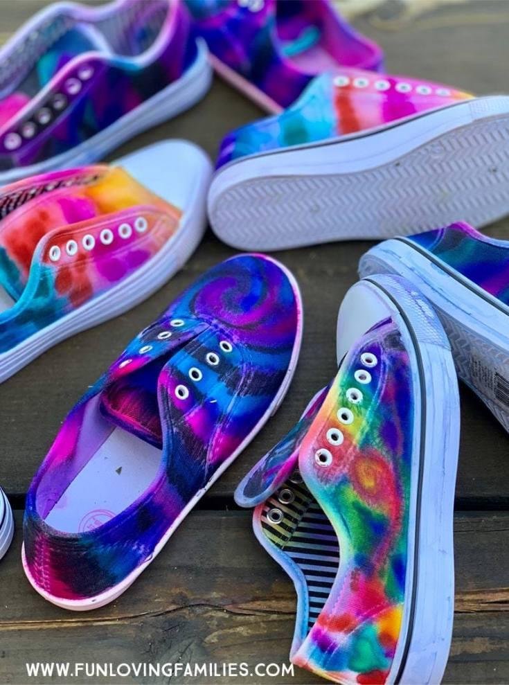 Sharpie Tie Dye Shoes