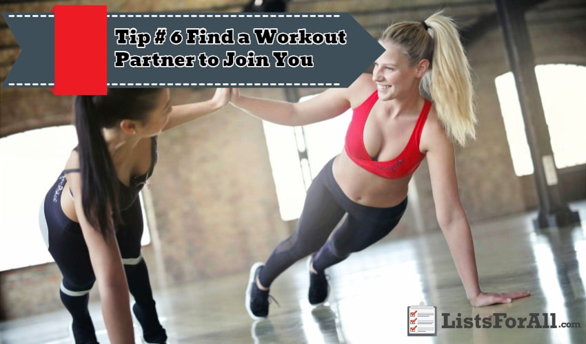 Find a Workout Partner to Join You