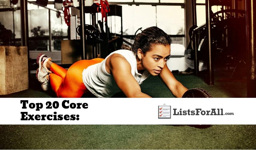 Top 20 Core Exercises