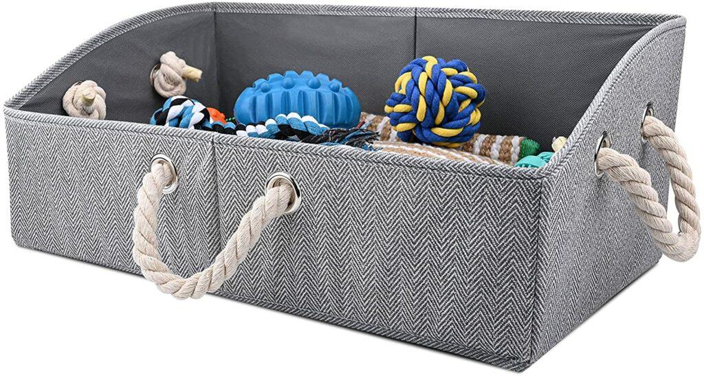 Foldable Dog Toy Basket