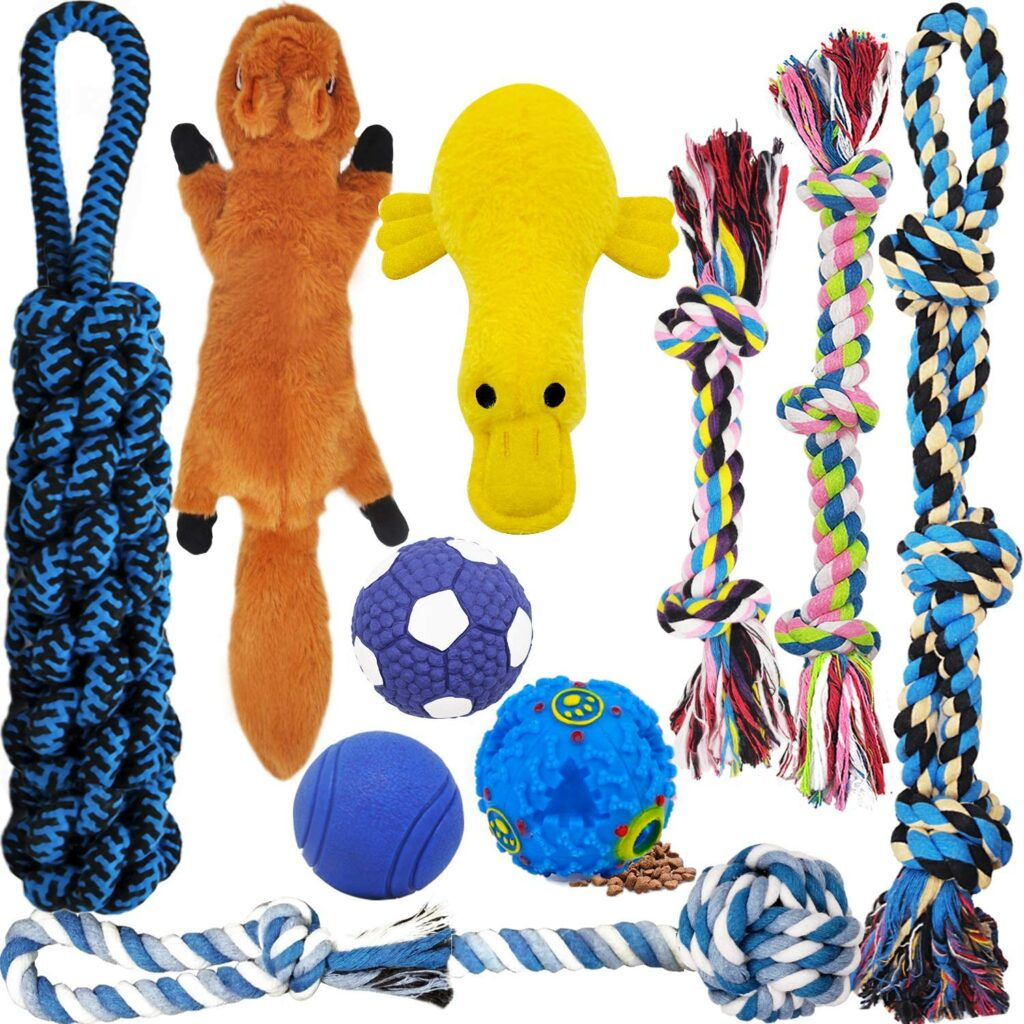 Stuffed Animals and Ropes Dog Toys