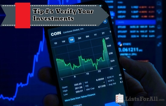 Verify Your Investments